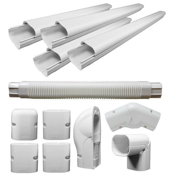 Decorative PVC Line Cover Kit for Mini Split Air Conditioners and Heat Pumps $41.99