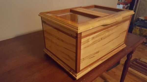 White Eagle Humidor Ambrosia Maple wCherryHolds250+ CigarsHandcrafted USA