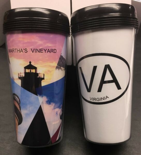 40 pc 16oz. Travel Mug with free die cut printable insert .