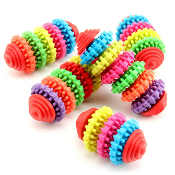 Pet Chew Toy Dog Puppy Dental Teething Safe Clean Rubber Teeth Gums Doggie Toys