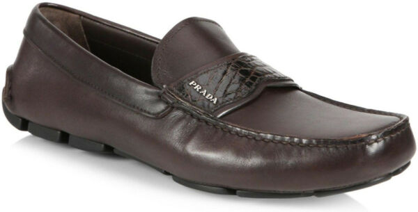 100% authentic Prada Leather Keeper Drivers shoes size 8.5 (9.5 US)