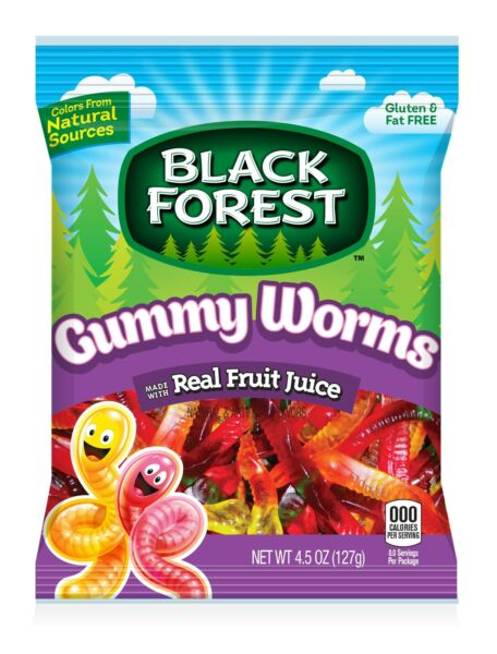 Black Forest Ferrara Gummy Worms Candy Case 4.5oz (PACK OF 12)