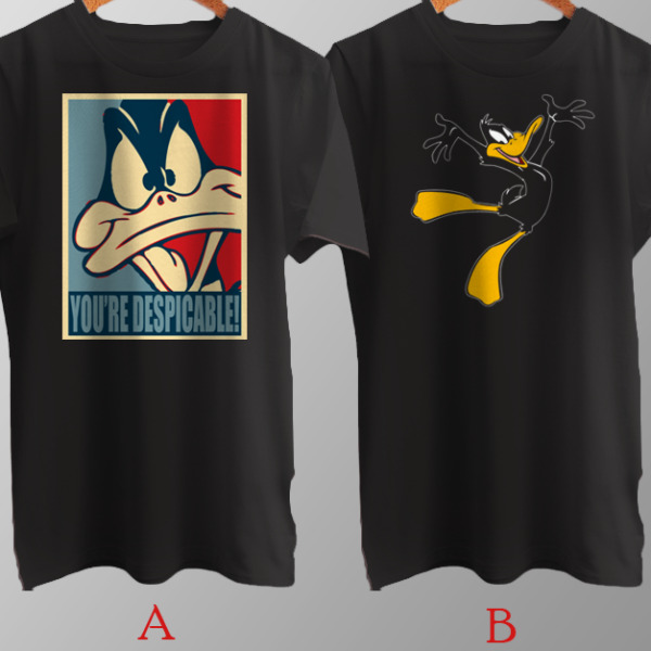 Daffy Duck Youre Despicable Cartoon Character T-Shirt Cotton Brand New