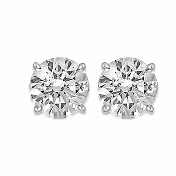 GIA CERTIFIED DIAMOND STUD EARRINGS 1.82 CARATS D SI1 G VS218K WHITE GOLD
