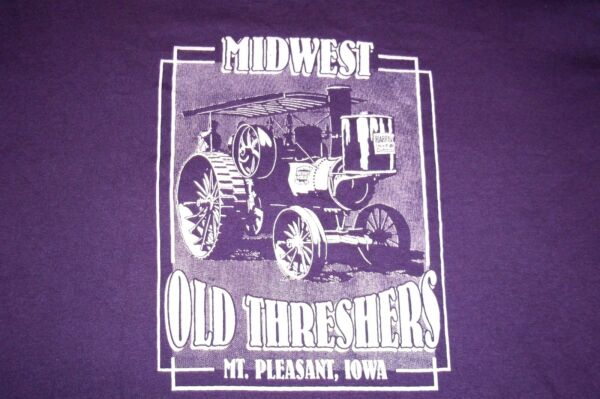 Midwest Old Threshers Steam Engine Tractor Mt. Pleasant Iowa T-Shirt Womens LG