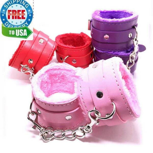 Handcuffs Up Furry Fuzzy Sex Restraint Slave Hand Ring Ankle Cuffs Cosplay Toys $9.96