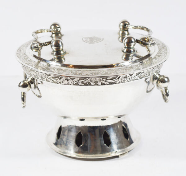 ANTIQUE CHINESE CHINA HAND WARMER HANDWARMER POT EXPORT SILVER 19th C