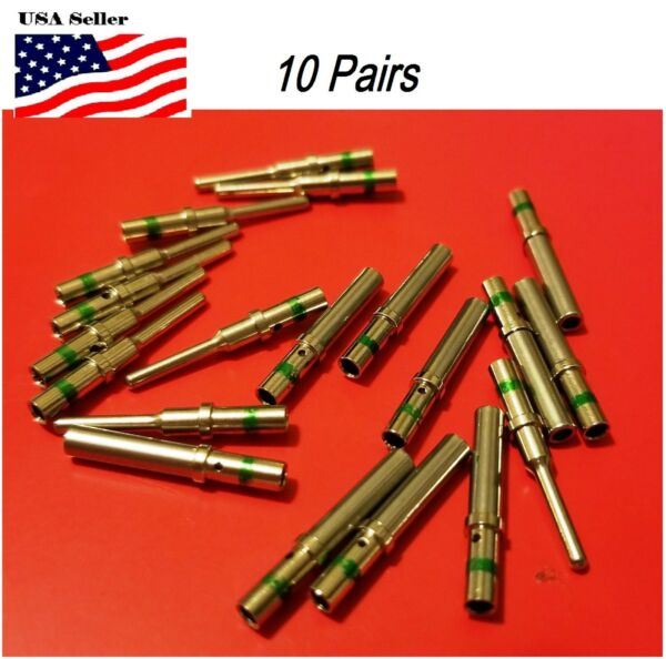 10 pairs Deutsch DT Series  solid pin Connector Male & Female 20 pcs