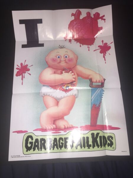 1986 Topps Garbage Pail Kids Poster #12. I Love GPK. Direct From Pack.