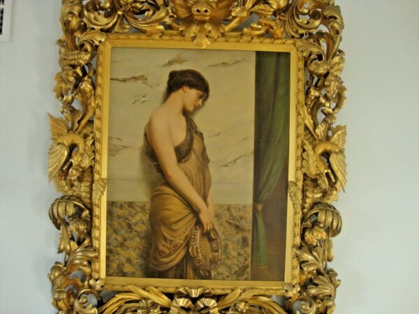 Antique French    Oil Painting  Early  20 th  Canvas