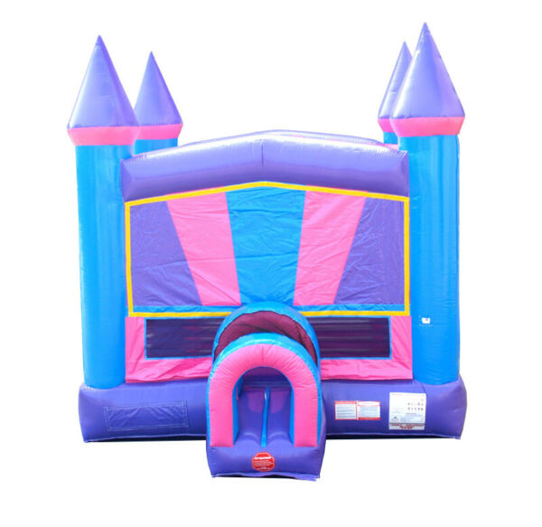 Princess PurplePink Modular Kids Commercial Inflatable Bounce House With Blower