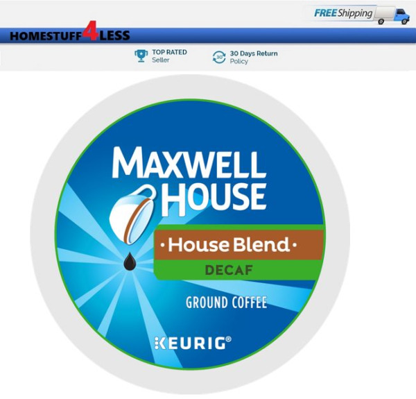 MAXWELL HOUSE DECAF House Blend Keurig K-cups Coffee PICK THE SIZE
