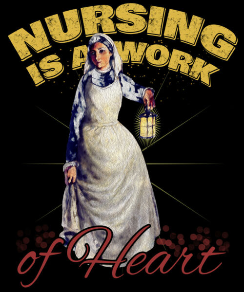 Registered Nurse Shirt - Florence Nightingale Victorian Style - Premium T-Shirt