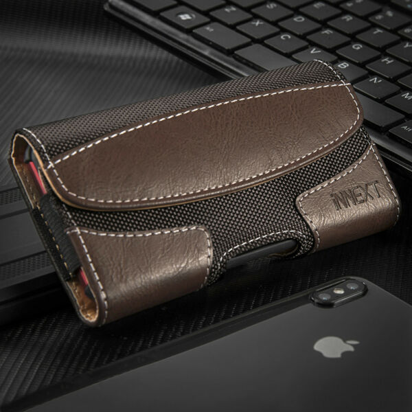 HorizontaL PU Leather Case Cover Pouch Holster Belt Clip for iPhone 8 Plus XR XS