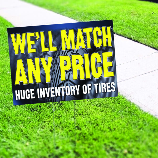 We'll Match Any Price Huge Inventory Plastic Indoor Outdoor Coroplast Yard Sign