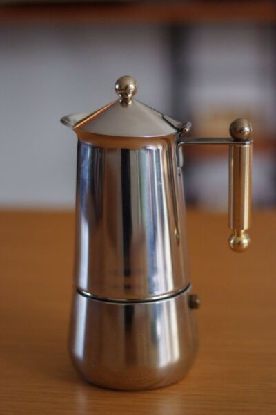 Rare Italian Tracanzan Stainless Stovetop Coffee Percolators Mid Century Retro