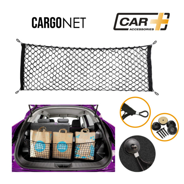 Car Trunk Rear Cargo Net Organizer Storage Elastic Mesh Holder Universal Nylon $14.50