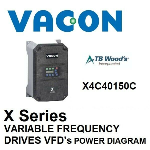 TB WOODS VARIABLE FREQUENCY DRIVE VACON VFD X SERIES 15HP POWER CHASIS DIAGRAM