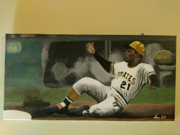 Roberto Clemente hand painted...1 of 1