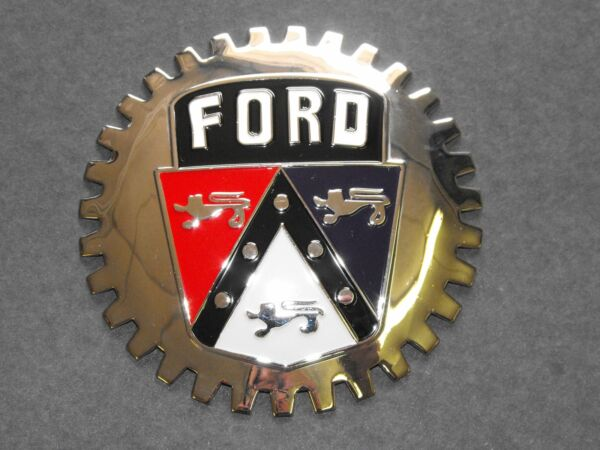 VINTAGE FORD AUTOMOBILE GRILLE BADGE