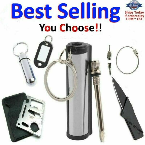 Striker Match Lighter Permanent Fire Starter Emergency Waterproof Survival Metal