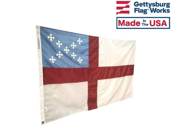Episcopal Flag Sewn Embroidered Durable All Weather Nylon Outdoor Made in USA