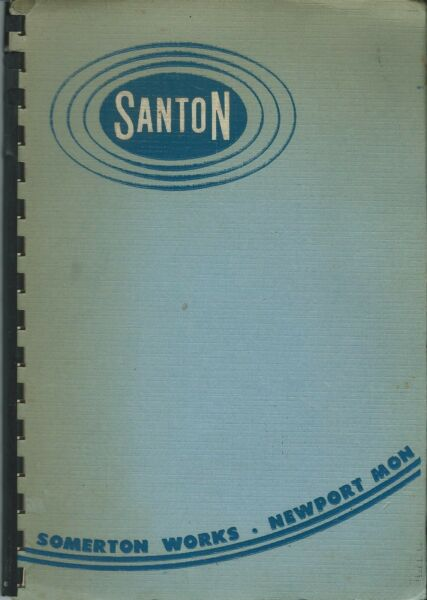 WALES CATALOGUE FOR SANTON SUPPLIERS OF THERMAL STORAGE AND IMMERSION HEATERS GBP 7.00