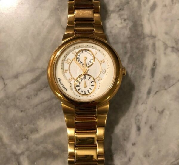 Philip Stein unisex gold watch with natural frequency technology