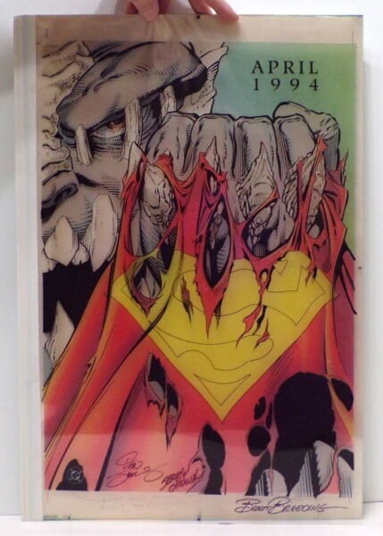 DOOMSDAY PROMO COLOR SEPARATIONS Superman's Death ONLY 4 Produced HAND SIGNED