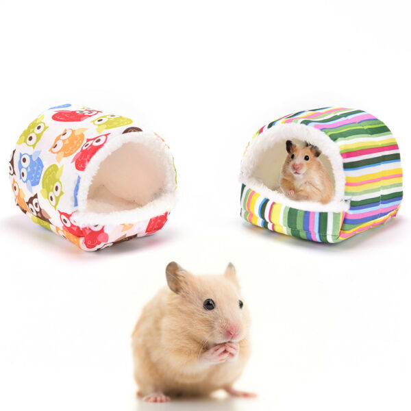 small animal bed cave warm cute nest for hamster guinea pig squirrel hedgehog Kd