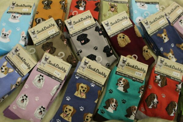 Dog Breed Super Soft Quality Unisex Socks by Sock Daddy Choice of 40 Breeds $9.99