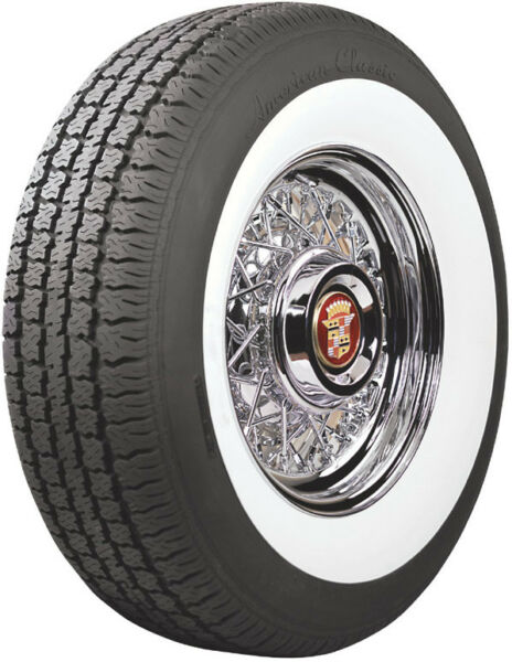Cadillac Wire Wheel and Wide White Wall Tire Package by Truespoke - Show Quality