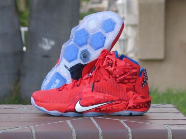 Nike LeBron XII 12 USA 4th of July Men's Basketball Sneakers 684593-616