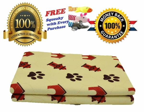 2-Pack Reusable Puppy Training Pads  32
