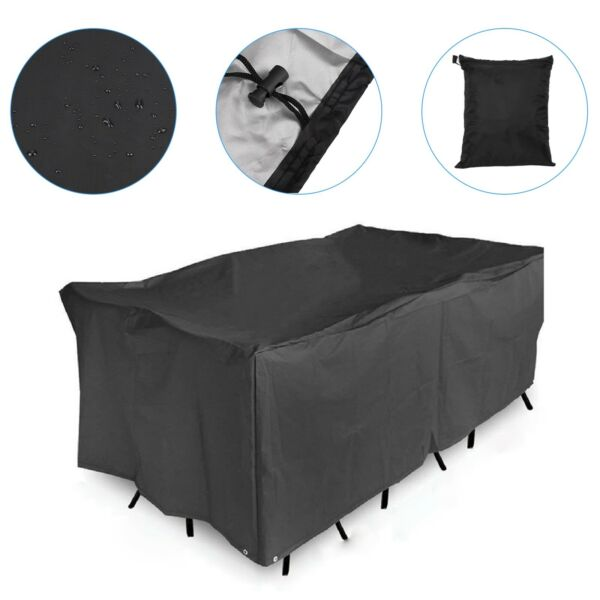 Waterproof Garden Patio Furniture Cover Rectangular Rattan Table Cover Outdoor $24.99