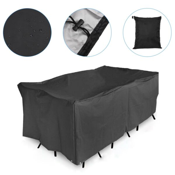 Garden Patio Furniture Covers Chair Table Covers Rectangular Outdoor Waterproof $24.99