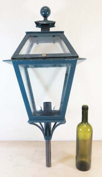 STREETLIGHT WROUGHT IRON FORGED HAND VINTAGE WALL LANTERN LIGHT LAMP CH