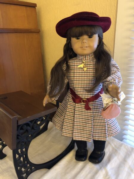 """American Girl Doll Samantha 18"""" Retired 1994 Pleasant Company Original Outfit"""