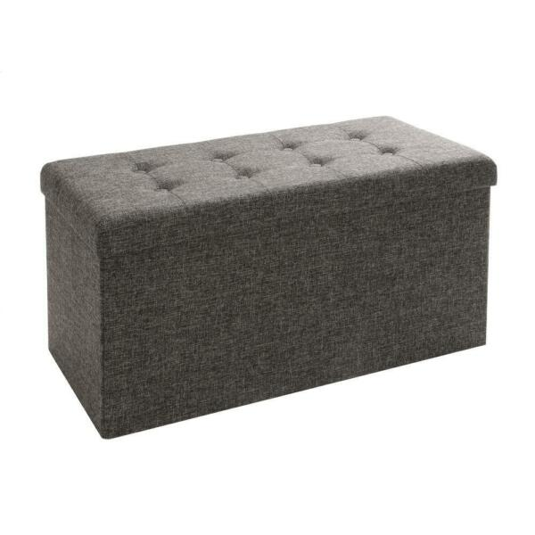 Foldable Storage Bench Footrest Coffee Table Ottoman Home Living Room Furniture