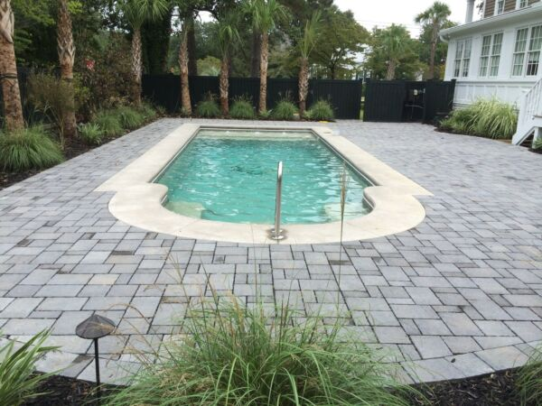 Fiberglass in ground pool Large 16 x 41 - Suntan ledge pool Free shipping Check