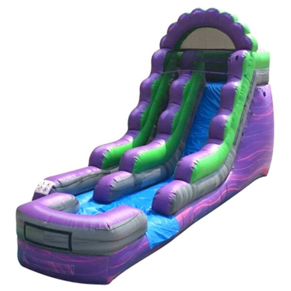 15'H Purple Marble Commercial Inflatable Water Slide Kid Jumper Game With Blower