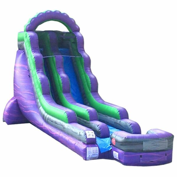 18'H Purple Marble Inflatable Commercial Kids Water Slide Jumper Game w Blower