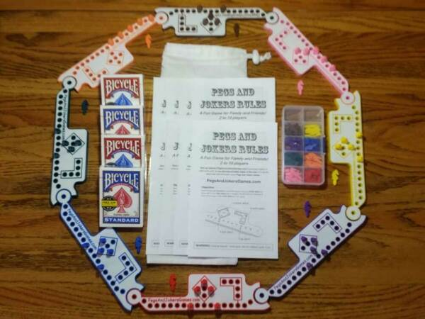 8 Players Pegs and Jokers or Marbles NEW American Made in USA Family Game Night