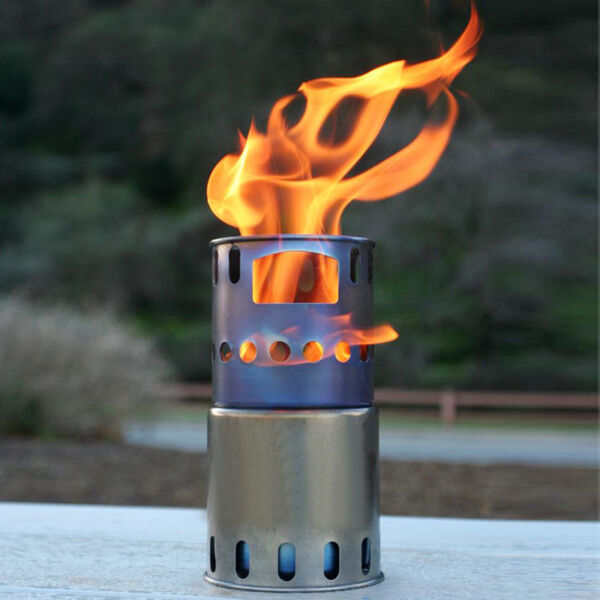 Toaks Titanium Wood Burning Stove Ultralight Outdoor Cooking Picnic Burner