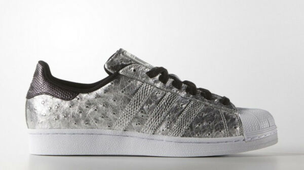 BNIB ADIDAS Originals Superstar Sneaker AQ4701 Ostrich Embossed Leather 12M