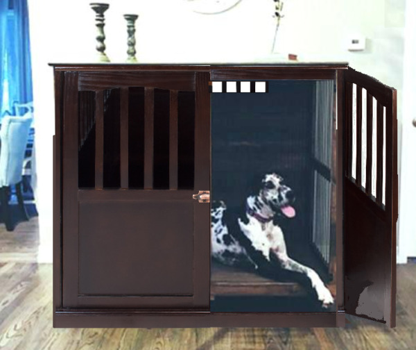 XL End Table Indoor Wood Extra Large Dog Pet Crate Solid Furniture Cage Bedroom