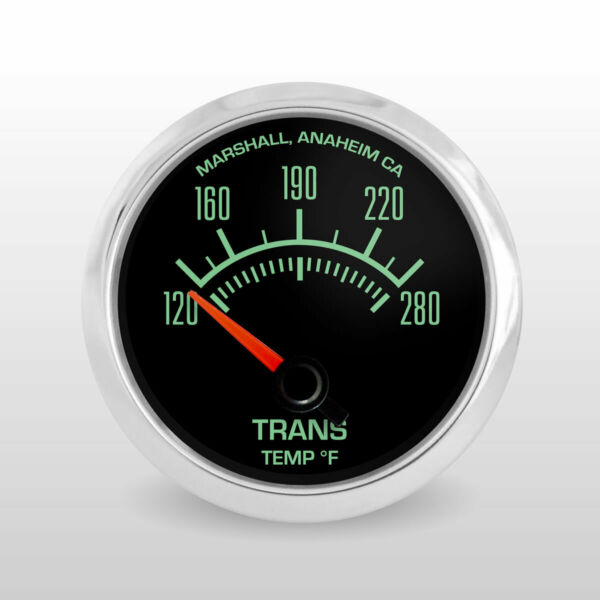 C2 60s Transmission Temperature Gauge, Stainless Steel Bezel