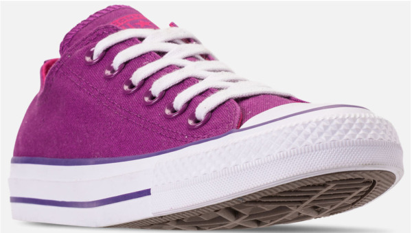 CONVERSE Women's Chuck Taylor All Star Violet/Pink Purple lo-tops  162453F NEW