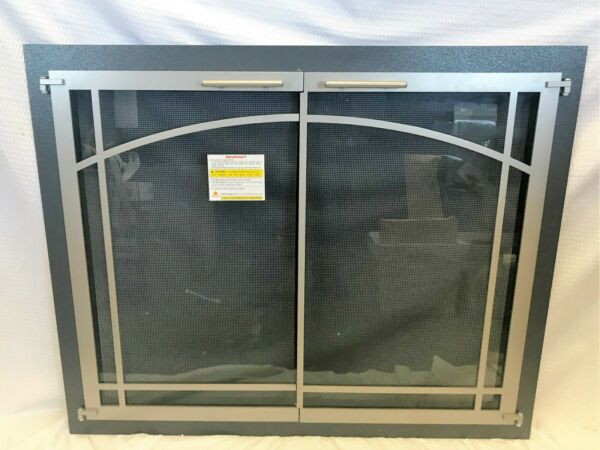 Stoll Glass Fireplace Door Bar Stock Silver Mist & Champagne 37 38