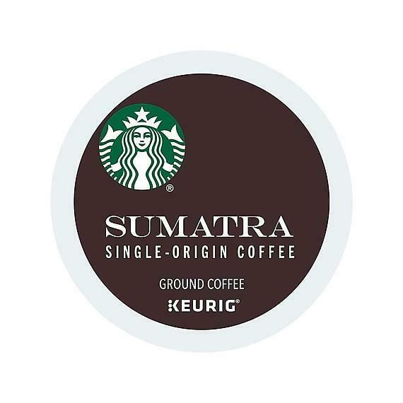 192 cups Starbucks Sumatra Coffee Keurig K-Cup Pods Dark Roast Fresh !